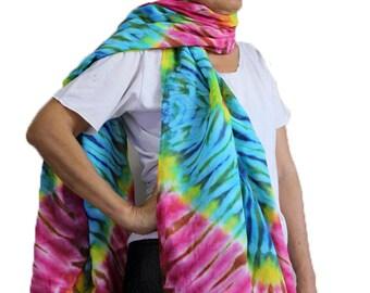 Hand Dyed Scarf, Women Shawl, Wrap Scarf , Tie dye Cotton Scarf Accessories (27)