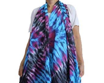 Accessories Women's fashion long big wraps scarf shawl tie dye cotton  wrap  scarves summer beach (13)