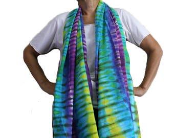 Rainbow Tie Dye Cotton Wrap Shawl , Hand Dyed Scarf ,Women Scarves & Wraps Accessories  (30)