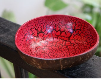 Coconut Bowl Classic Oriental Decorative Multipurpose Handmade Coconut Hand Painted Shell Bowl (PC36)