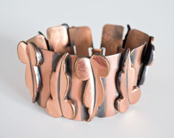 Mid Century Modernist Renoir Copper Bracelet