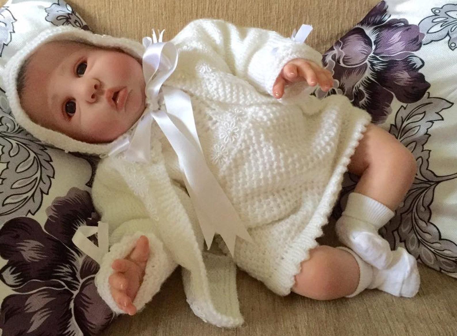 baby knitting patterns - princess range, bonnet, ballet shoes, cardi sizes 0-6mths approximately