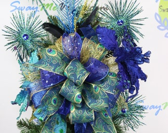 Peacock Tree Topper Etsy