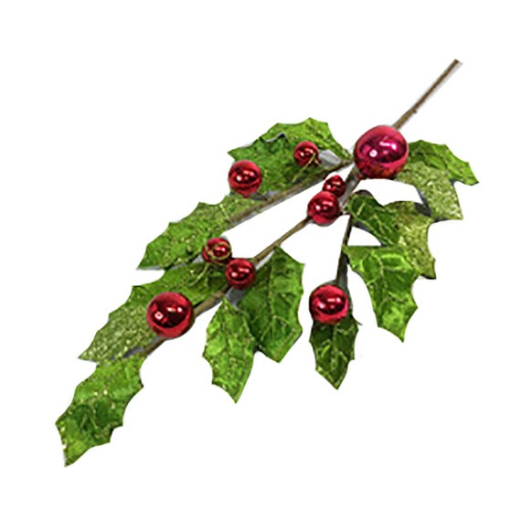 Holly Spray Red Green With Balls Raz Christmas Holiday Decoration Wreath Supply Craft Tree Topper Decorations By Sway Me Vegas Catch My Party