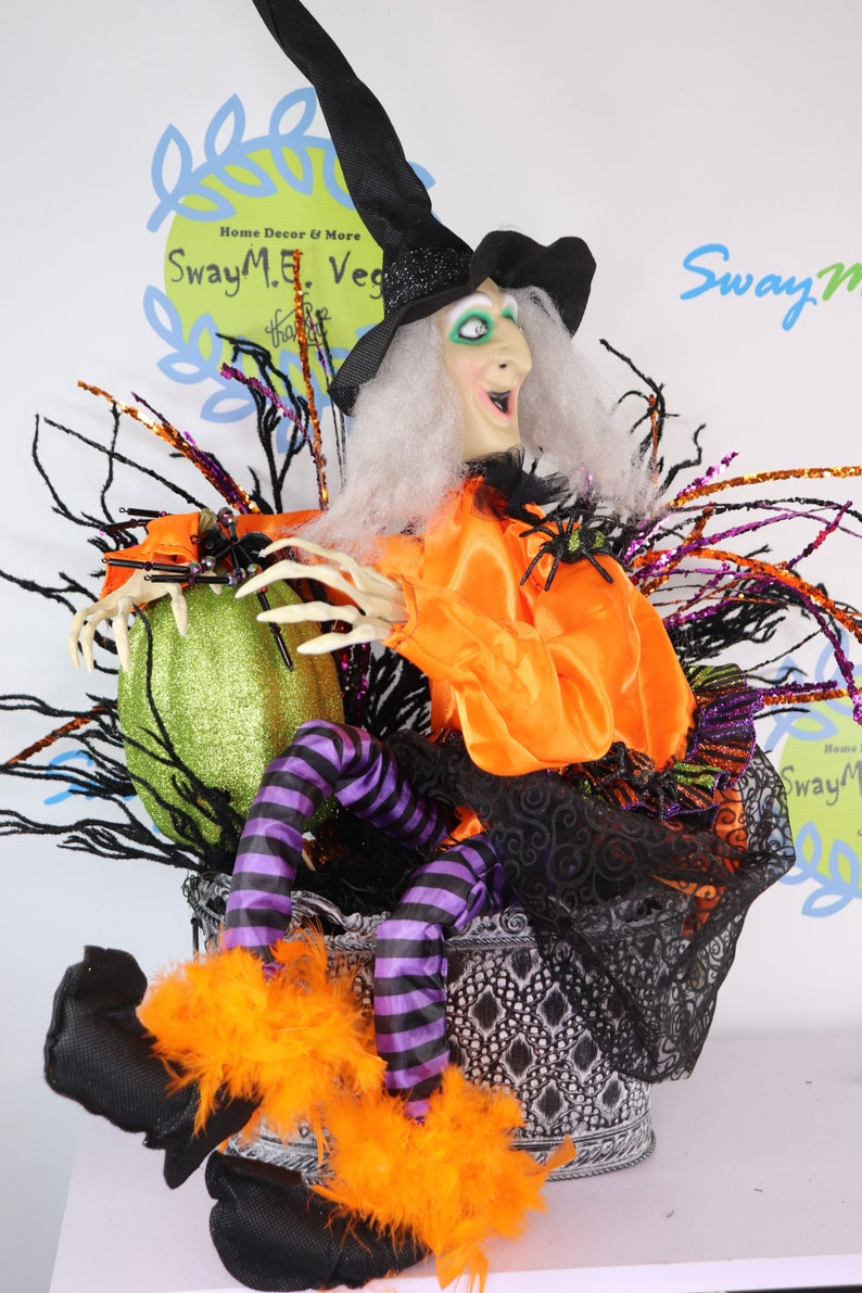 Halloween Animated Moving and Talking Witch Centerpiece  image 0