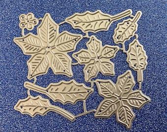 NEW Poinsettia Christmas Flower Craft Cutting Die