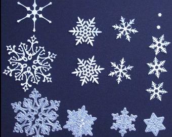 NEW Snowflake Medley Christmas Craft Cutting Die Set - 4pcs