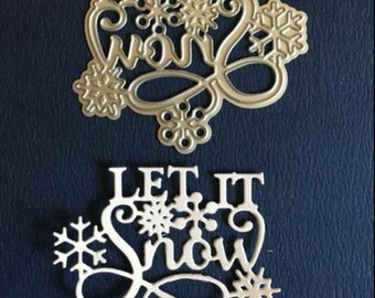 NEW 'Let it Snow' Christmas Cutting Die