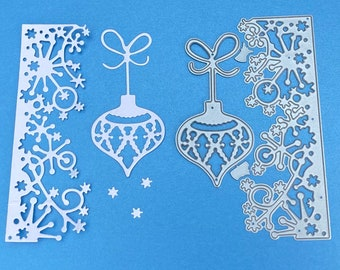 NEW 'Snow Border and Bauble' Christmas Craft Cutting Die