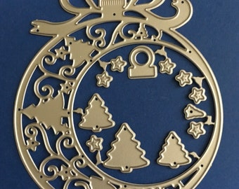 NEW Christmas Ornament Craft Cutting Die - card-making, scrapbooking etc.