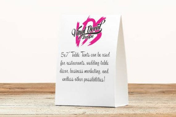 Custom Table Tents, Wedding Table Numbers, Table Tents, Printed Table Tent,  Business Marketing, Restaurant Table, Wedding Table Tents