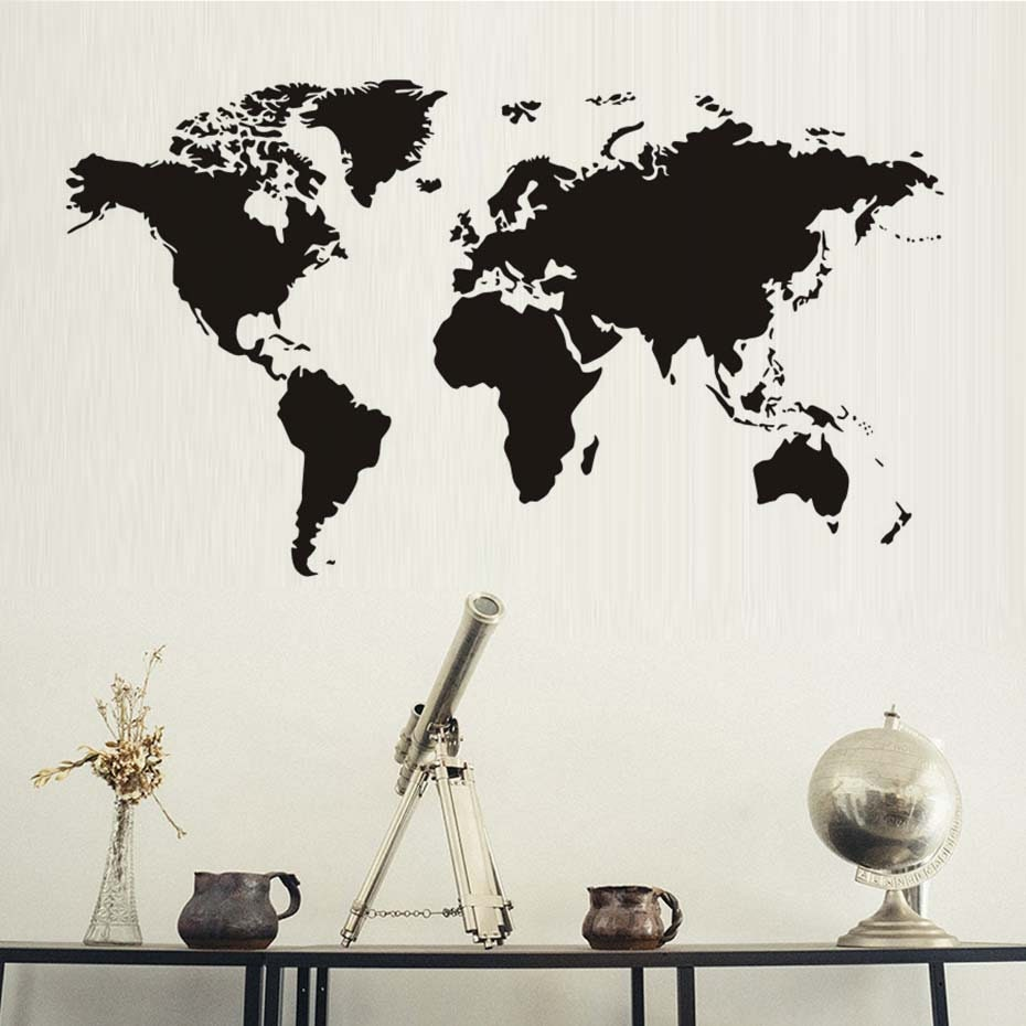 World map wall decal large world map atlas wall decal educational 1 gumiabroncs Image collections