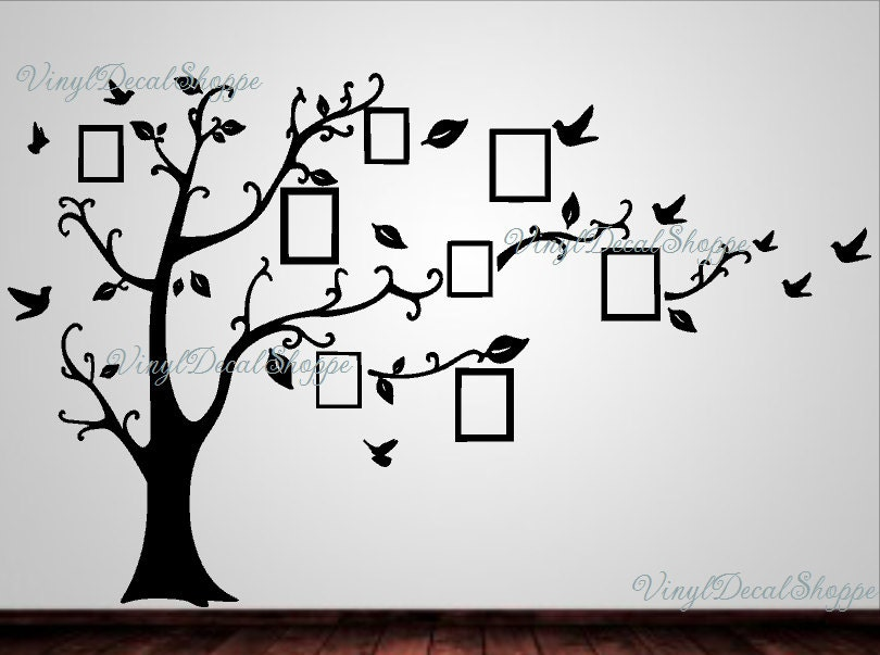 Large Family Tree Wall Decal, Family Tree Wall Decor, Family Tree ...