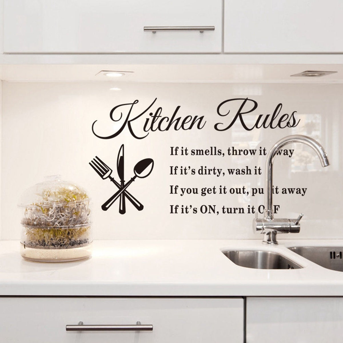Kitchen Rules Wall Decal Kitchen Decals Kitchen Wall Decal