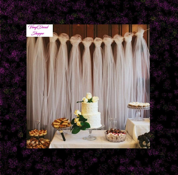 Outdoor Wedding Illinois: DIY Tulle Backdrop Wedding Decor Photography Prop Birthday