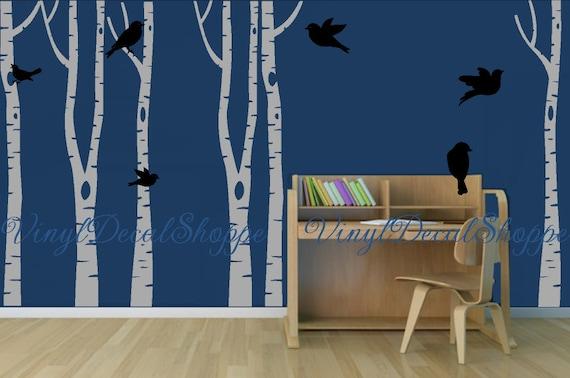 Bouleau Sticker Mural Arbre Sticker Mural Arbre Blanc