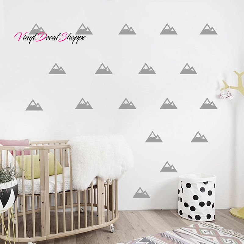 Mountain Pattern Wall Decal Nursery Wall Decor Wall Paper Chic