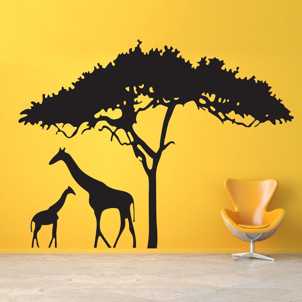 Giraffe Wall Decal, Nursery Wall decal, Giraffe Decor, Giraffe ...