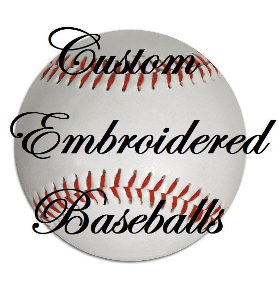 9ef7a73d0 Custom Embroidered Baseball - Team Ball, Baseball Gift, Senior Gifts ...