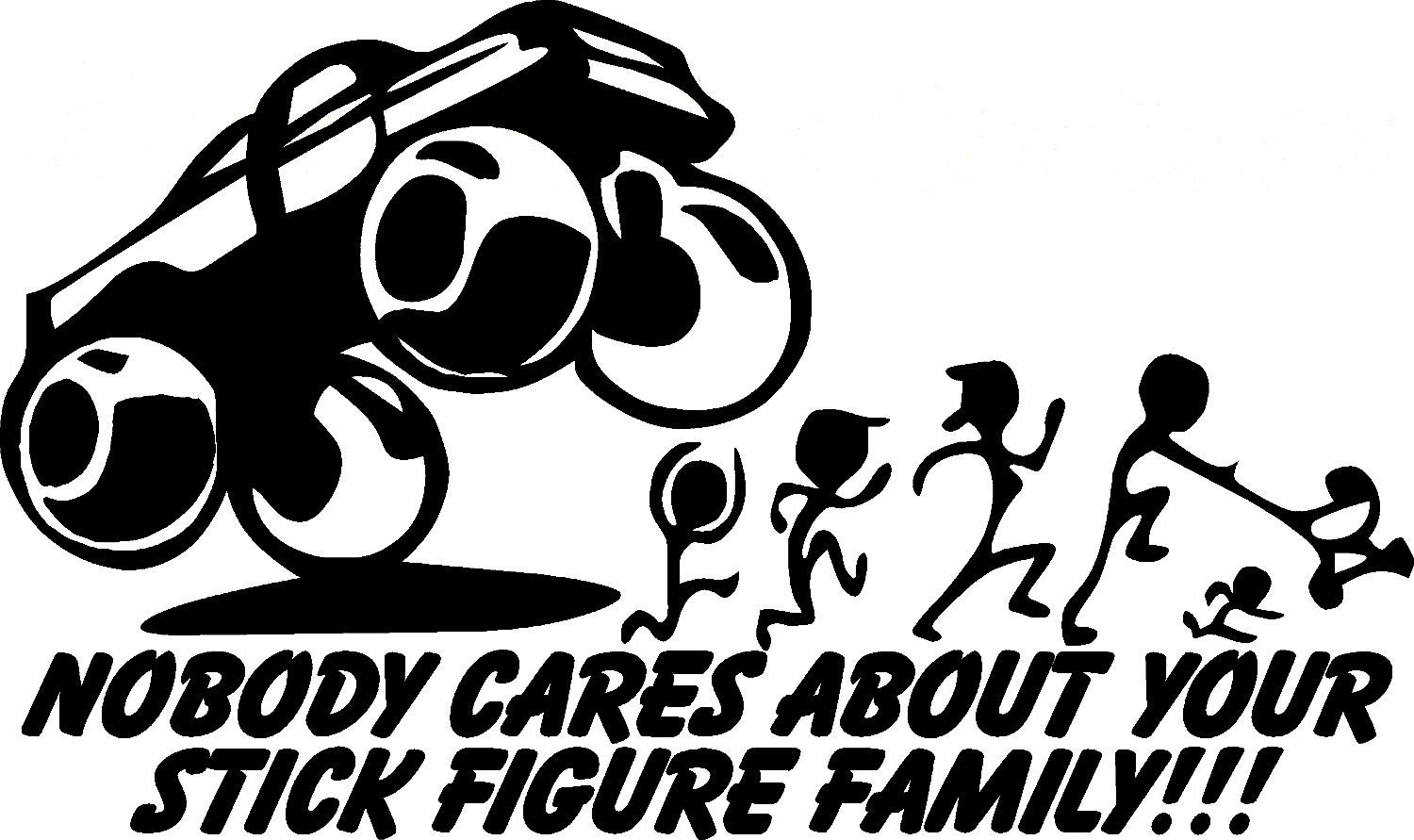 stick figure family decals