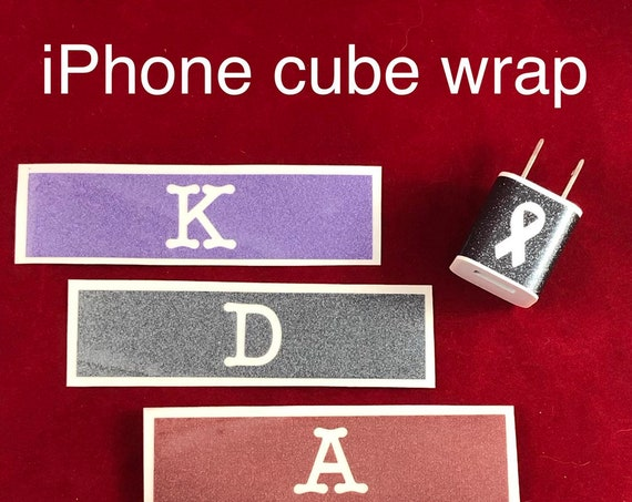 GLITTER iPhone Charger Decal; claim your cube and stop the confusion!