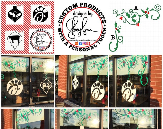 Private Listing for Christmas Window Decals