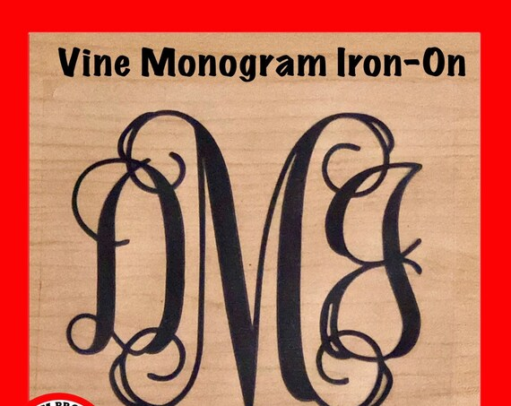 Iron-On Monogram for shirts | Choose size & color |  blankets, pillow cases, clothing and more