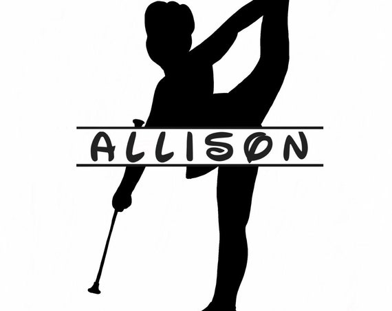 Baton TWIRLER DECAL with name | Personalized Twirler Decal | Majorette Decal | Car Decal