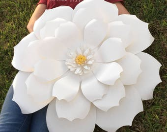 Giant Paper Flowers | Paper Flower Backdrop | Flower photo prop | wedding decor | party decor