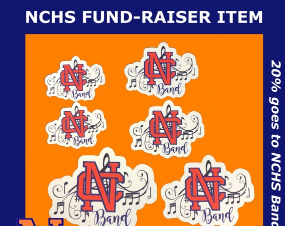 NCHS Band Waterproof Stickers | Set of 6, Assorted Sizes