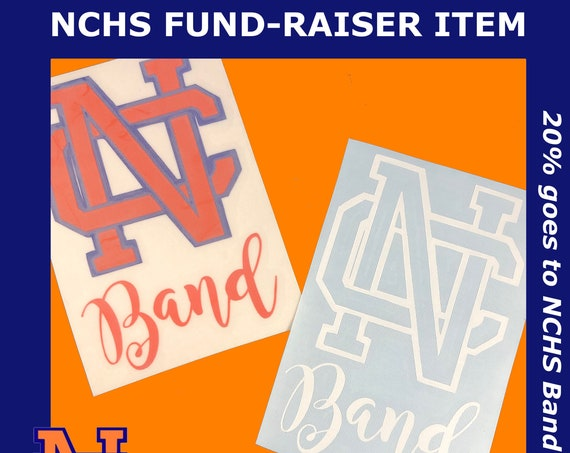 NCHS Decal | Choose Blue & Orange or all white | Car decal, laptop, Cups and Water bottles and more