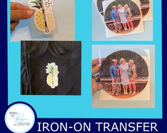 Photo Iron On - iron on appliqué, Use for shirts, totes & fabric materials