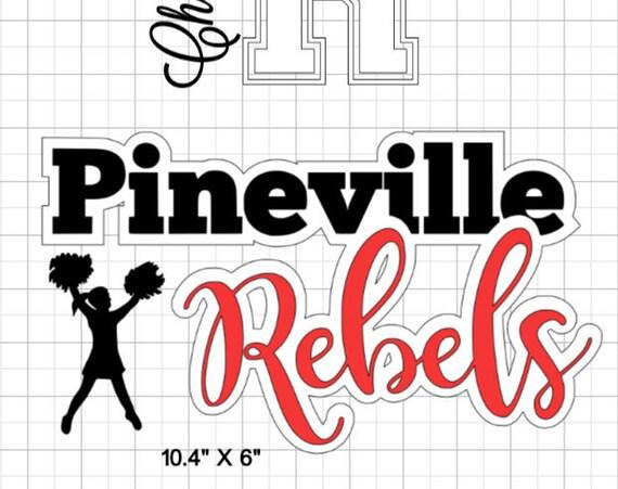 Pineville Rebels decals