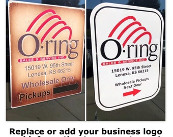 Business car or Office Door Decal | Commercial decals | Business car sticker | Office Door sticker | Deposit only