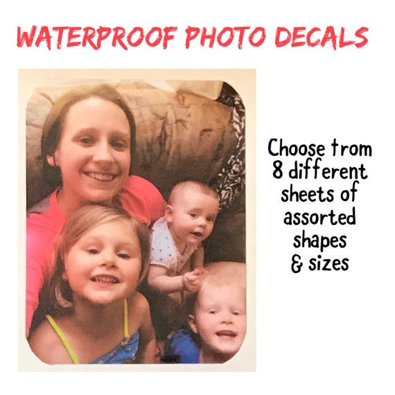 PHOTO Stickers Great for Special Occasions, kids, pets & more. High Quality shaped decal
