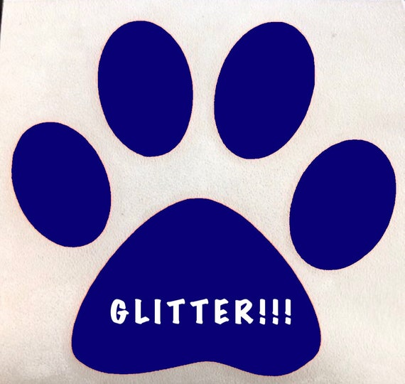 Glitter Paw Print Decal; Sticker for Yeti cups, tumblers, mugs, water bottles, cars, laptops and devices