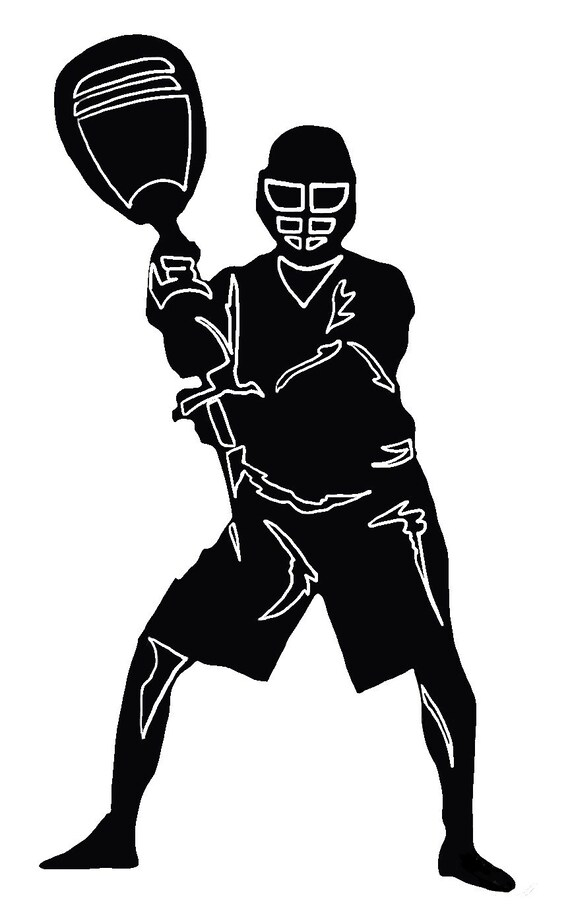LACROSSE GOALIE DECAL | decals for tumblers, car windows, laptops & more
