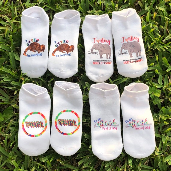 Baton Twirler Socks - Twirl/ All Catch / Otter be Twirling / Irrelephant / assorted styles
