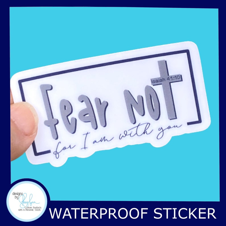 Fear Not for I am with you  Christian Faith 2.5 inch image 0