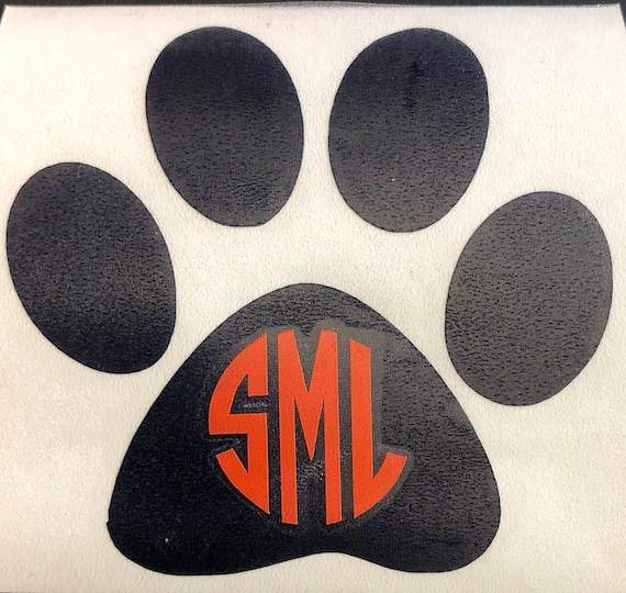 Bradenton Christian School, Paw Monogram DECAL