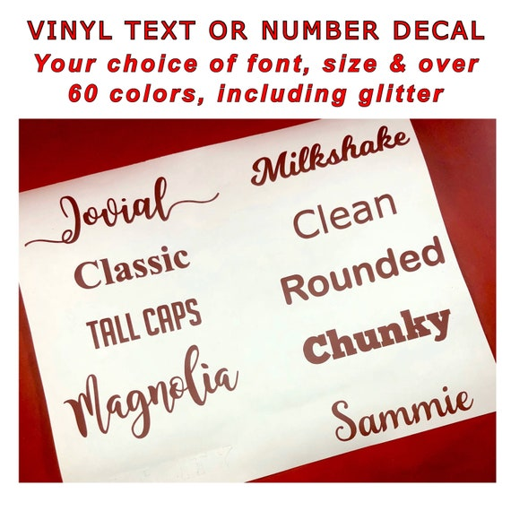 NAME DECAL | Choose size & color | Stickers for Yeti cups, tumblers, mugs, water bottles, cars, laptops and devices