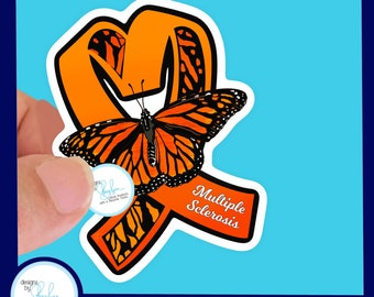 Multiple Sclerosis Waterproof Sticker - Use for Hydroflask, Water bottle, Laptop, Car Window, Laminated, Choice of Size