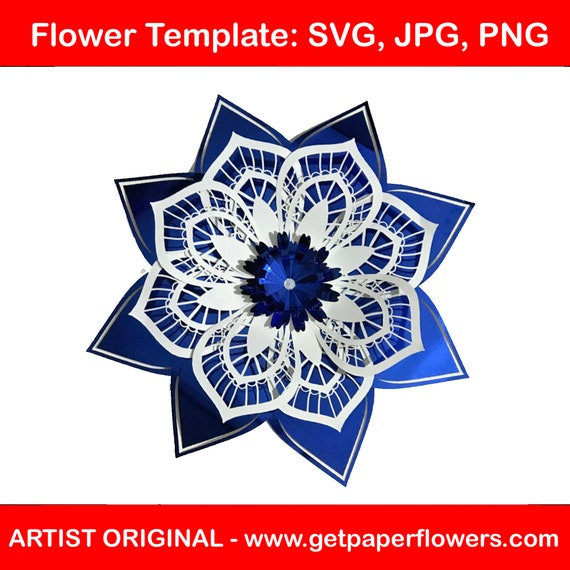 Giant Paper Flower CUT TEMPLATE | use to make Paper Flower Backdrops | Flower cut files | svg, jpg, png