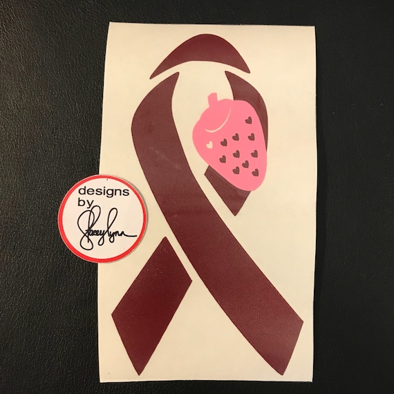HEMANGIOMA Awareness Ribbon Decal | Vascular Birthmark decal | Use for car windows, cups & water bottles, laptops and more