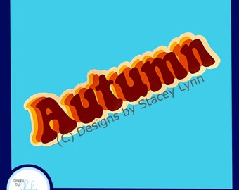 Autumn - Fall Window Window Cling, removable, repositionable white vinyl