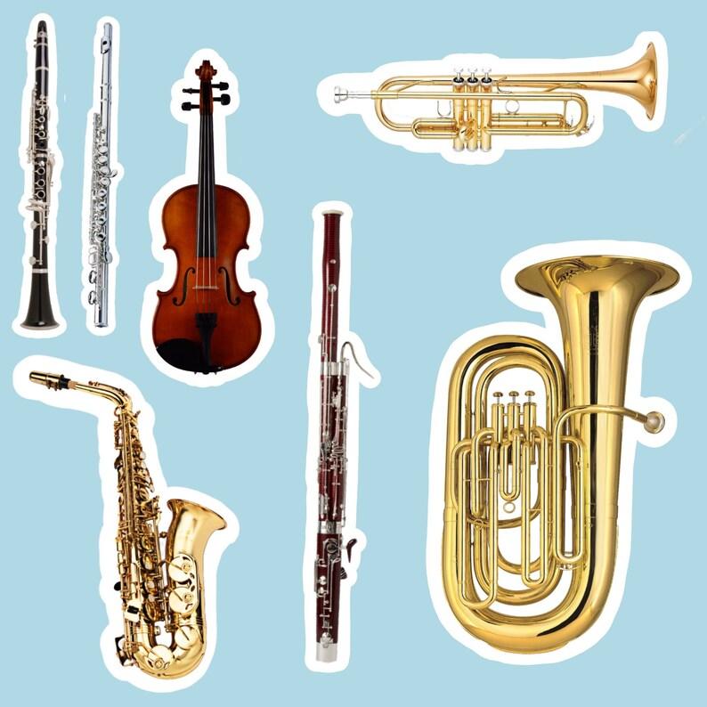 MUSICAL INSTRUMENT Waterproof STICKER  alto/ bari saxophone image 0