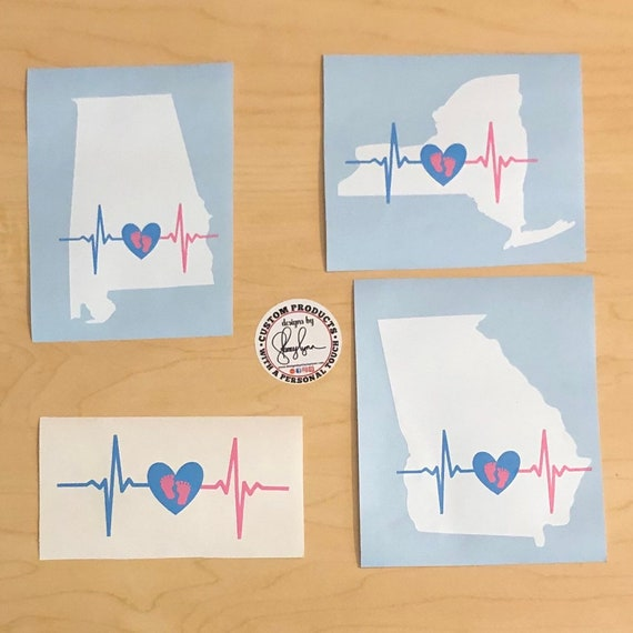 Heartbeat Law awareness decal; decal for car window, laptop, tumblers and other smooth surfaces