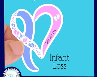 Infant Loss Awareness Waterproof Sticker - Use for Hydroflask, Water bottle, Laptop, Car Window, Laminated & Choice of Size