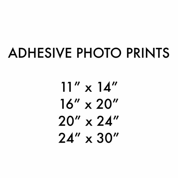 Photo Prints, Assorted & oversize, adhesive backing