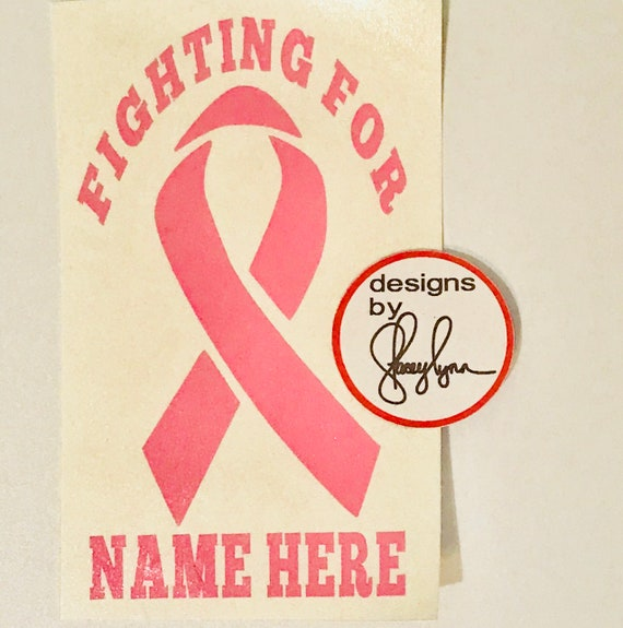 Personalized CANCER RIBBON decal | I'm fighting for Cancer Ribbon decal  | Colored cancer ribbon |